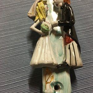 NEW bride& groom mezuzot  ceramic no parchment